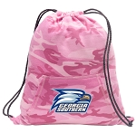 Georgia Southern Drawstring Backpack Pink Camo