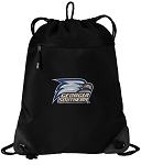 Georgia Southern Drawstring Backpack-MESH & MICROFIBER