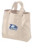 Georgia Southern Tote Bags NATURAL CANVAS