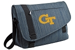 Georgia Tech Messenger Laptop Bag Stylish Navy