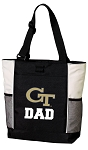 Georgia Tech Dad Tote Bag White Accents