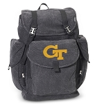 Georgia Tech LARGE Canvas Backpack Black