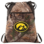 Iowa Hawkeyes RealTree Camo Cinch Pack