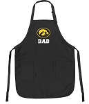Official University of Iowa Dad Apron Black