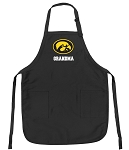 Official University of Iowa Grandma Apron Black