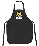 Official University of Iowa Grandpa Apron Black
