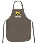 Official Iowa Hawkeyes Grandma Apron Tan