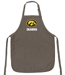 Official Iowa Hawkeyes Grandpa Apron Tan
