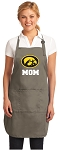 Official Iowa Hawkeyes Mom Apron Tan