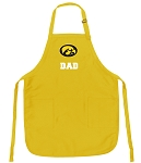Deluxe University of Iowa Dad Apron - MADE in the USA!