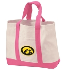 University of Iowa Tote Bags Pink