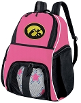 Girls University of Iowa Soccer Backpack or Iowa Hawkeyes Volleyball Bag