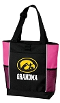 University of Iowa Grandma Tote Bag Pink