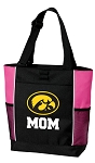 University of Iowa Mom Tote Bag Pink