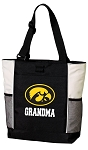 University of Iowa Grandma Tote Bag White Accents