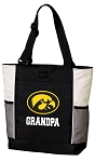 University of Iowa Grandpa Tote Bag White Accents