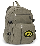 Iowa Hawkeyes Canvas Backpack Olive