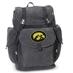 University of Iowa LARGE Canvas Backpack Black