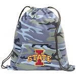 Iowa State Drawstring Backpack Blue Camo