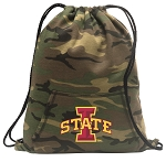 Iowa State Drawstring Backpack Green Camo