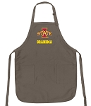 Official Iowa State University Grandma Apron Tan