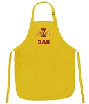 Iowa State Dad Apron Yellow - MADE in the USA!