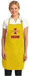 Iowa State Mom Apron Yellow - MADE in the USA!