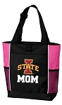 Iowa State Mom Tote Bag Pink