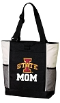 Iowa State Mom Tote Bag White Accents