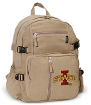 Iowa State Canvas Backpack Tan