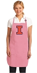 Deluxe University of Illinois Apron Pink - MADE in the USA!
