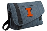 University of Illinois Messenger Laptop Bag Stylish Navy