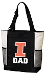University of Illinois Dad Tote Bag White Accents