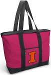 Deluxe Pink University of Illinois Tote Bag
