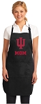 Official Indiana University Mom Apron Black
