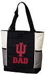 Indiana University Dad Tote Bag White Accents