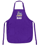 JMU Dad Apron Purple - MADE in the USA!
