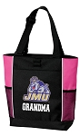 James Madison University Grandma Tote Bag Pink