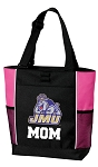 James Madison University Mom Tote Bag Pink