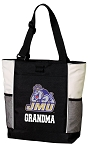 James Madison University Grandma Tote Bag White Accents