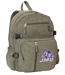 JMU Canvas Backpack Olive