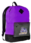 JMU Backpack CLASSIC STYLE James Madison University Backpacks