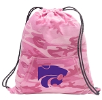 Kansas State Drawstring Backpack Pink Camo