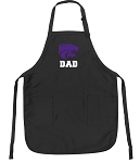 Official Kansas State Dad Apron Black