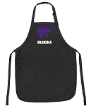 Official Kansas State Grandma Apron Black