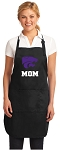 Official Kansas State Mom Apron Black