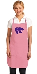 Deluxe Kansas State Apron Pink - MADE in the USA!