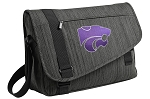 Kansas State Messenger Laptop Bag Stylish Charcoal