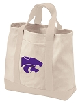 Kansas State Tote Bags NATURAL CANVAS