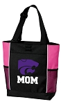 Kansas State Mom Tote Bag Pink